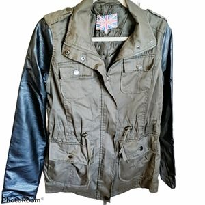 Miss London leather army jacket